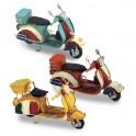 Petit scooter vintage Type vespa, L 12 cm Jaune