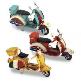 Petit scooter vintage Type vespa, Mod Jaune, L 12 cm