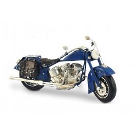 Moto miniature en métal, Mod Bleu L 26 cm