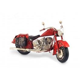 Moto miniature en métal, Mod Rouge, L 26 cm