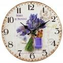 Horloge Provence Lavande 1, Diam 34 cm