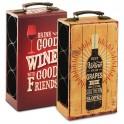 Range-bouteilles vintage Jaune, H 33 cm