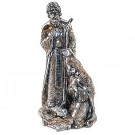 Crèche Figurine Marie, Joseph, Jésus, H 47 cm mod 1