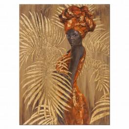 Tableau Africaine, TRIBUTE TO SAVANNAH, H 120 cm