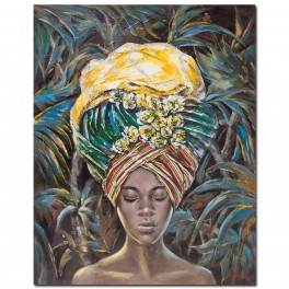 Tableau Africaine 6, TRIBUTE TO SAVANNAH, H 90 cm