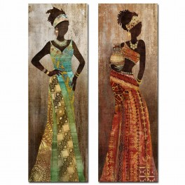 Tableau Africaine 2, TRIBUTE TO SAVANNAH, H 90 cm