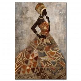 Tableau Africaine2, TRIBUTE TO SAVANNAH, H 90 cm