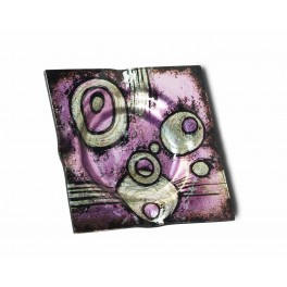 Cendrier en verre acrylique 1, Collection PURPURA, L 15 cm