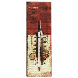 Thermomètre Thème Vin : modèle Bouteille Clé du cellier, H