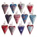 1 Coeur métal imprimé, H 13 cm (1 modèle au choix)