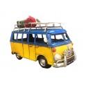 Grand van vintage de type Combi, L 28 cm Bleu