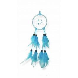 Attrape-rêves colorés, bleu ciel H 32 cm
