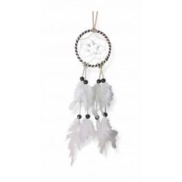 Attrape-rêves colorés, Blanc H 32 cm
