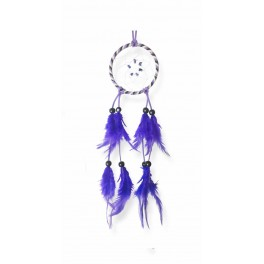 Attrape-rêves colorés, Bleu H 32 cm