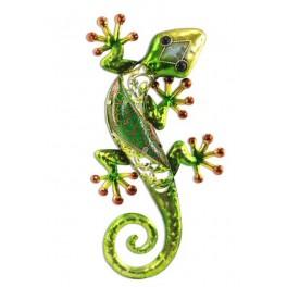 Le gecko coloré, modèle vert H36 cm