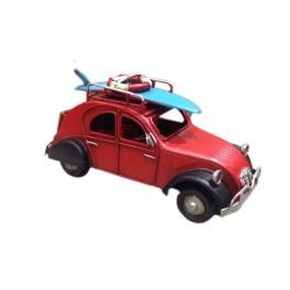 Petite 2CV miniatures L 16 cm, Modèle Rouge et noir