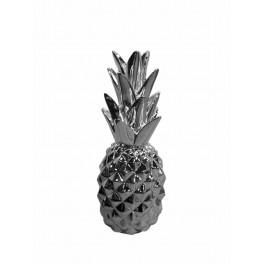 Fruit déco : Ananas chromé, H 29 cm