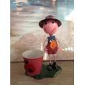 Personnage Cache-Pot : Pierrot & la Sucette, H 27 cm