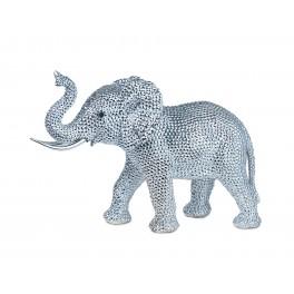 Eléphant debout XL : Collection Perles de strass, H 25 cm