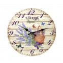 Horloge murale lavande de Provence, Mod 1, 34 cm
