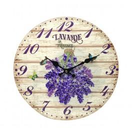 Horloge murale lavande de Provence, Mod 2, 34 cm