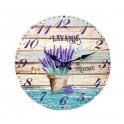 Horloge murale lavande de Provence, Mod 3, 34 cm