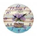 Horloge murale lavande de Provence, Mod 4, 34 cm