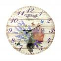 Grande Horloge Lavande de Provence, Diam 58 cm