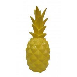 Fruit Design en résine Taille XL : Ananas Jaune, H 44 cm