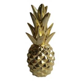 Fruit Design en résine Taille XL : Ananas Or, H 44 cm