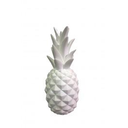 Fruit Design en résine Taille L : Ananas Blanc, H 24 cm