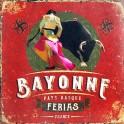 Plaque Murale Rétro Pays Basque : Bayonne, FERIAS, H 30 cm