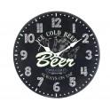 Horloge MDF thème BIère, Ice cold Beer, Diam 34 cm
