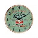 Horloge vintage Combi : Modèle Côte Basque, Venez Surfer, Diam 34 cm