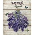 Plaque métal : Lavande de Provence 2, H 33 cm