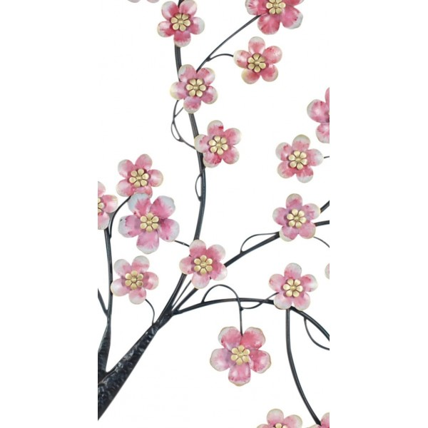 Déco Murale Métal Wallart Floral
