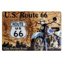 Plaque 3D métal Route 66 : The Mother Road 20X30 cm