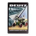 Plaque 3D métal 20 x 30 cm : Tracteur Deutz