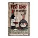 Plaque 3D métal 20x30 cm Vino Rosso : Il nettare divino