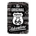 Plaque 3D métal 20x 30 cm Route 66 : The original adventure