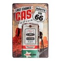 Plaque 3D métal 20x30 cm : Route 66 Last chance gas station