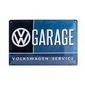 Plaque métal 20x30 cm officielle Volkswagen service : Garage