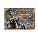 Plaque 3D métal 20x30 cm Harley Davidson: My favourite ride