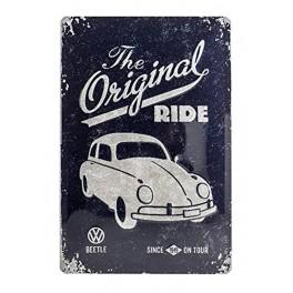 Plaque 3D métal 20x30 cm Coccinelle Volkswagen : The original Ride