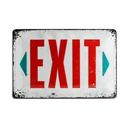 Plaque métal 20x30 cm sous licence: Exit