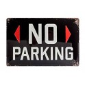 Plaque métal 20x30 cm sous licence: No parking