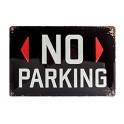 Plaque métal 20x30 cm sous licence: No parking