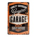 Plaque 3D métal 20x30 cm Harley Davidson: Motorcycles garage