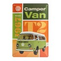 Plaque 3D métal 20x30 cm Combi Volkswagen : Camper Van