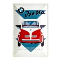 Plaque 3D métal 20x30 cm BMW Isetta : The world's most economical car.